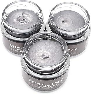 【お得な3個セット】EMAJINY Concrete Gray Ash 24A エマジニー コンクリートグレイアッシュカラーワックス 濃銀 36g 【日本製】【無香料】【シャンプーでサッと洗い流せる1日グレイヘア】
