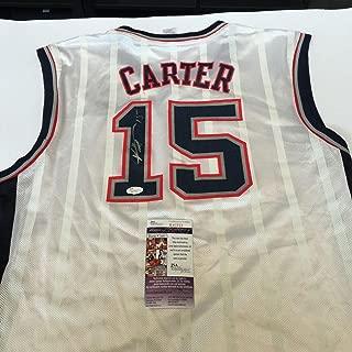 Vince Carter Signed Jersey - Reebok COA - JSA Certified - Autographed NBA Jerseys