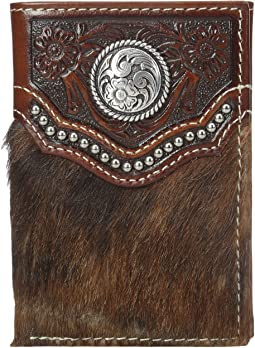 Ariat - Calf Hair Concho Trifold Wallet