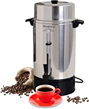 West Bend 33600 Highly Polished Aluminum Commercial Coffee Urn Features Automatic Temperature Control Large Capacity with ...