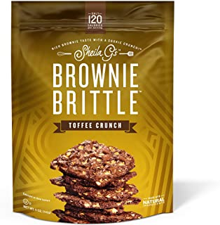 Brownie Brittle, Toffee Crunch (120 calories per ounce), 5 Ounce (Pack of 6) (Packaging May Vary) (Packaging May Vary)