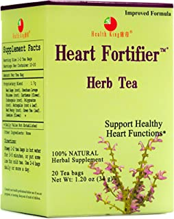 Health King Heart Fortifier Herb Tea, Teabags, 20 Count Box