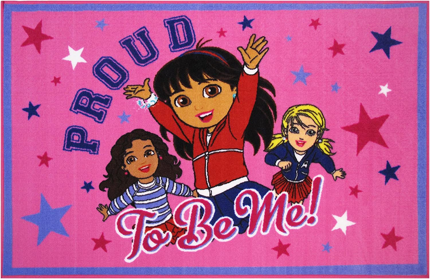 Fun Rugs Dora Area Rug Proud to Be Me 39By58Inch