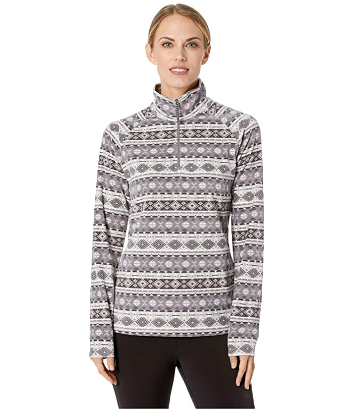 White Sierra Alpha Beta 1/4 Zip Print (Castle Rock) Women