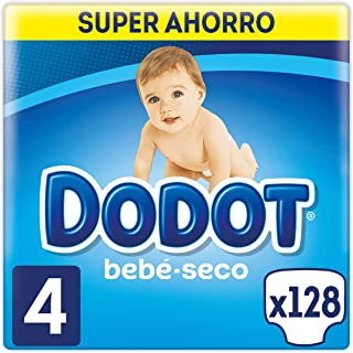 Dodot Bebé-Seco Pañales Talla 4, 128 Pañales, con Canales