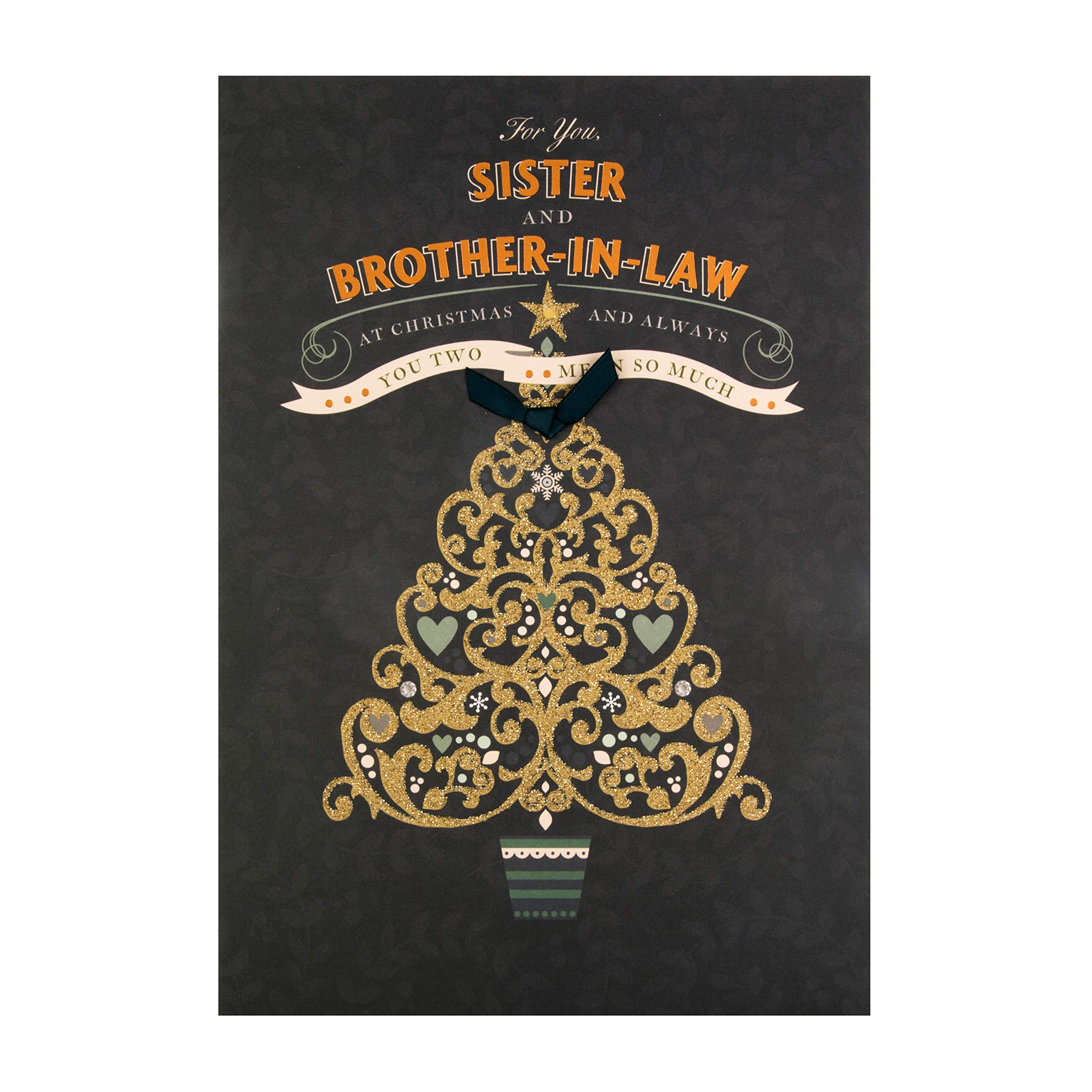 Christmas Card For Sister Brother In Law From Hallmark Gold Glitter Christmas Tree Design Buy Online In Cambodia Missing Category Value Products In Cambodia See Prices Reviews And Free