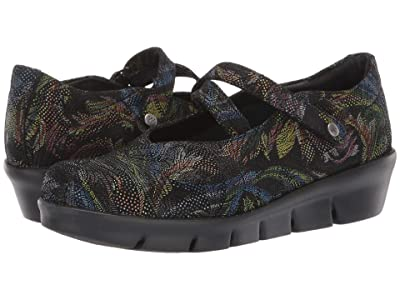 Wolky Sabik (Black Multi Palm Suede) Women