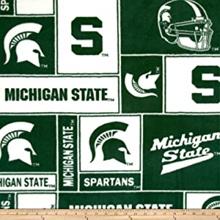 Collegiate Fleece Michigan State University Fabric By The Yard