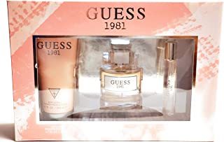 GUESS 1981 3 Pieces Gift Set For Women - EDT 100 ml + 200 ml Body Lotion + 15 ml Mini Set