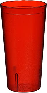 Winco Pebbled Tumblers, 20-Ounce, Red