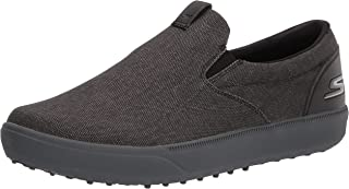 Skechers Men's Drive 4 Course Relaxed Fit Canvas Slip on Golf Shoe