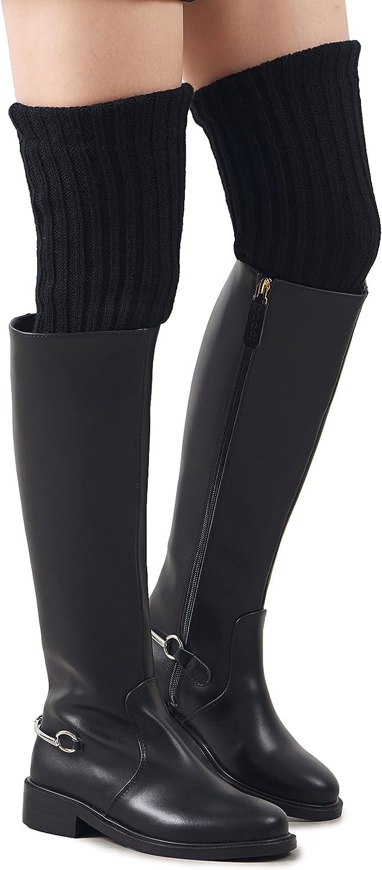 Leotruny Women's Winter Over Knee High Footless Socks Knit Leg Warmers