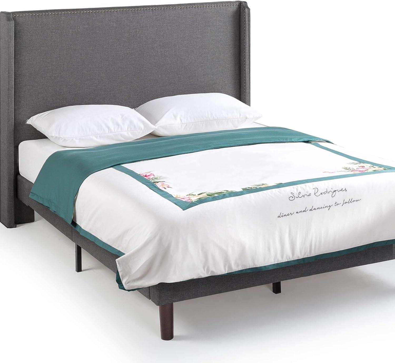 Product ZINUS Marcus Upholstered Platform Oklahoma City Mall Foundatio Mattress Frame Bed