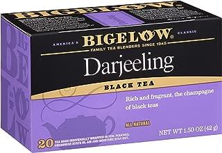 Bigelow Darjeeling Blend Tea 20-Count Boxes (Pack of 6), 120 Tea Bags Total.  Caffeinated Individual Black Tea Bags, for Hot Tea or Iced Tea, Drink Plain or Sweetened with Honey or Sugar
