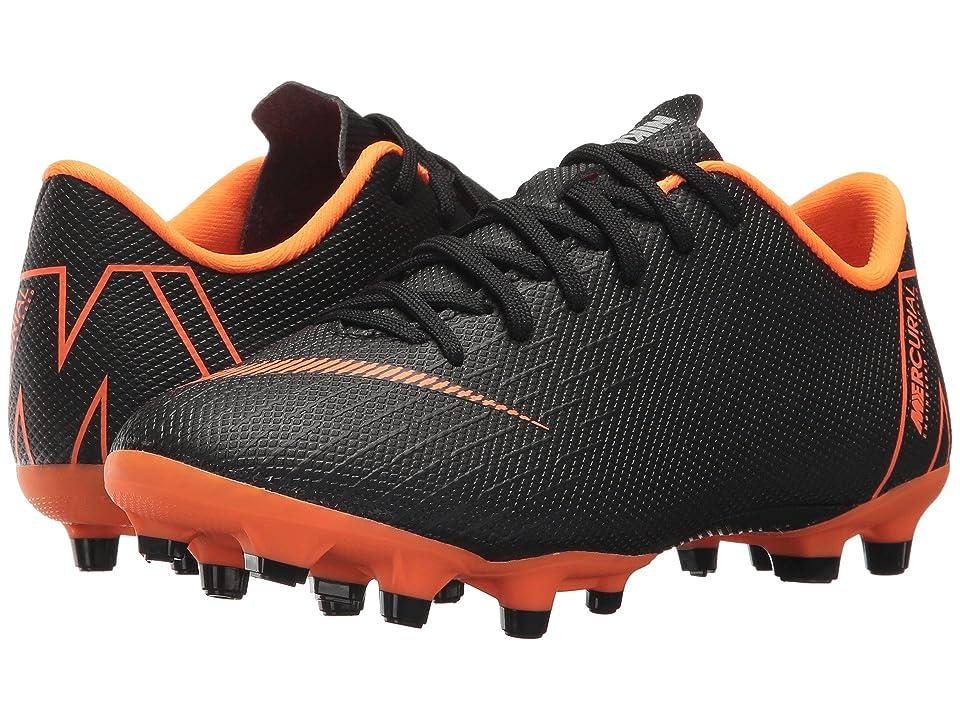Nike Kids Vapor 12 Academy MG Soccer (Toddler/Little Kid/Big Kid) (Black/Total Orange/White) Kids Shoes