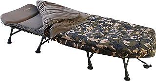 MK-Angelsport 8 ben solstol med sovsäck fåtölj kamo sovsystem karp solstol trädgårdsstol sovsäck