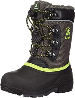 Kamik Kids' Luke Snow Boots Charcoal/Lime 3