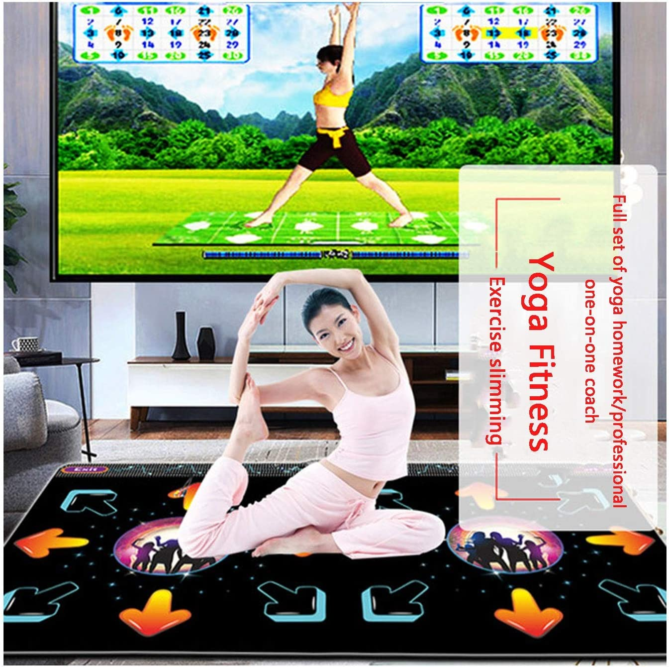 Double Dance Mats Non-slip Dancing Step Dance Mat Pad For Huishoudelijke Game Dance Revolution (Color : 30mm-black) 11mm-black