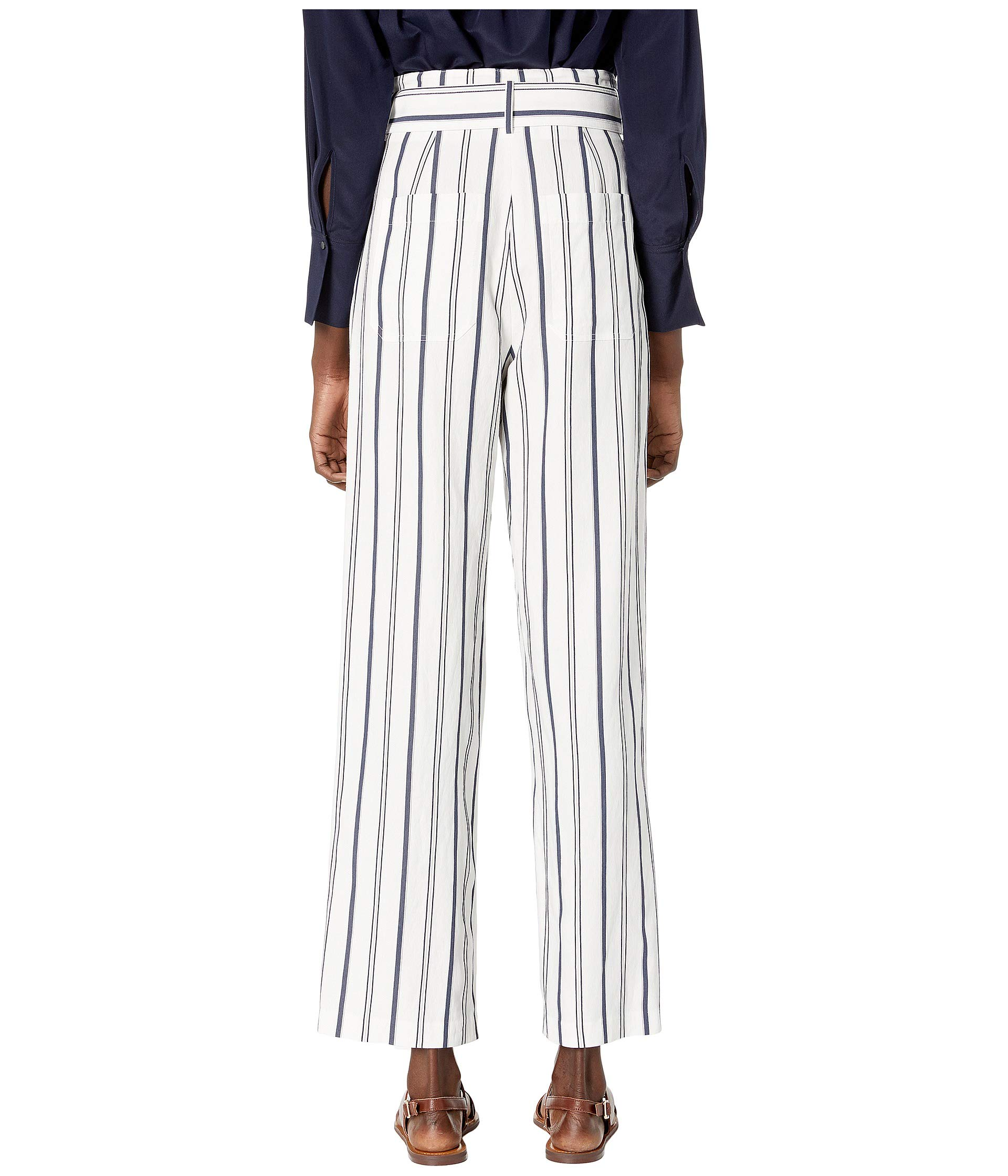 Vince Dobby Stripe Belted Pants at Luxury Zappos com