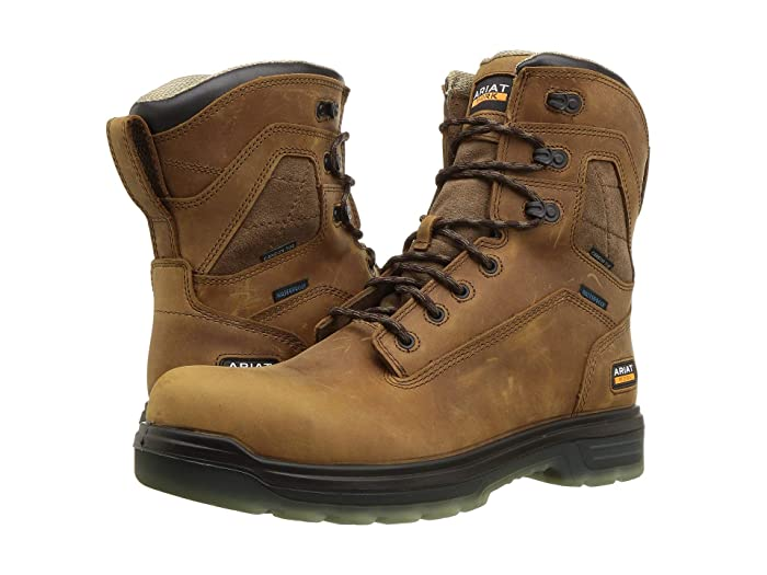 Ariat  Turbo 8 H2O (Aged Bark) Mens Work Lace-up Boots