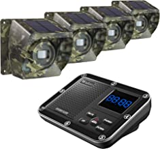Solar Driveway Alarm Wireless Outside 1800ft Range, Outdoor Motion Sensor & Detector Driveway Alert System with Rechargeable Battery/Weatherproof/Mute Mode (1&4-Camouflage)