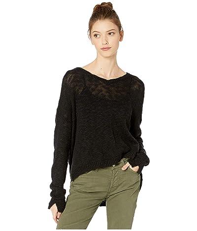 Roxy Lovely Soul Hooded Sweater (True Black) Women