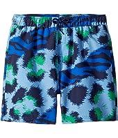 Kenzo Kids - Tiger Print Swim Shorts (Big Kids)