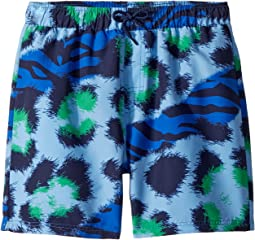 Tiger Print Swim Shorts (Big Kids)