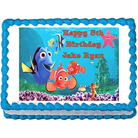 Disney Finding Nemo Squirt Turtle Ocean Background Edible Cake Topper Image ABPID15066-1//4 sheet