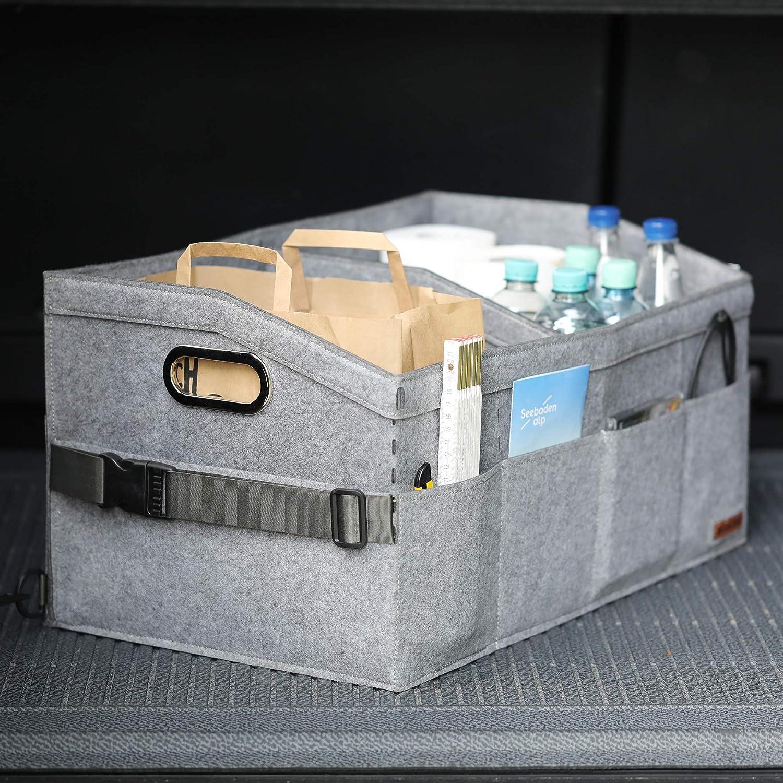 color gris oscuro Organizador para asiento del copiloto Lucky Sign
