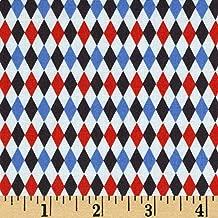 Michael Miller Jug or Not Retro Mini Harlequin Blue Fabric