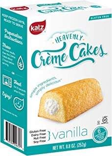 Katz Gluten Free Vanilla Crème Cakes   Dairy Free, Nut Free, Soy Free, Gluten Free   Kosher (1 Pack of 6 Crème Cakes, 8.8 Ounce)