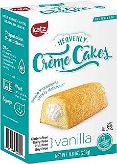 Katz Gluten Free Vanilla Crème Cakes | Dairy, Nut, Soy and Gluten Free | Kosher (1 Pack of 6 Crème Cakes, 8.8 Ounce)