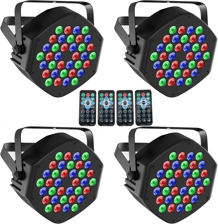 WGSS Stage Par Denver Mall Lights 25% OFF 36 LED RGB E Indoor Light for Uplights DJ