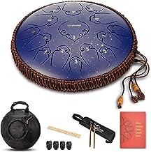 Steel Language Drum-14 Inch 15 Note Percussion Instrument Lotus Hand Pan طبل با طیف وسیعی از طیف وسیعی و کیسه های حمل ماله های طبل