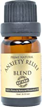 Prime Natural Anxiety Relief Blend Pure Essential Oil, Undiluted Aromatherapy Oil (10 ml) with Ylang Ylang for Stress and Mood Boost