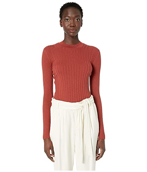 Vince Mixed Rib Long Sleeve Sweater