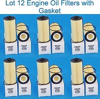 L45526 - Lot 12 Heavy Duty Engine Oil filter Full Flow With Gasket Fits FORD 6.0L 6.4L E-350 Club Wagon - Super Duty , E450 F250 F350 F450 F550 Super Duty , Excursion