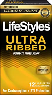 LifeStyles Ultra Ribbed Condoms, 6.8 Ounce