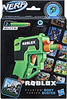 Nerf Roblox Phantom Forces: Boxy Buster Dart Blaster, Pull-Down Priming Handle, 2 Nerf Elite Darts, Code To Unlock In-Game...