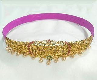 pranaam traditional ramparivar/ramdharbar vaddanam kamarband (for women 10.5 inches diameter and extendable)