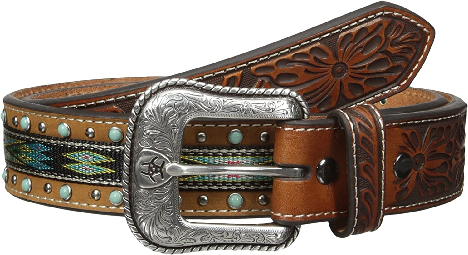 Ariat Men's Studed Be super welcome Ribon Ranking TOP12 Tirquoise