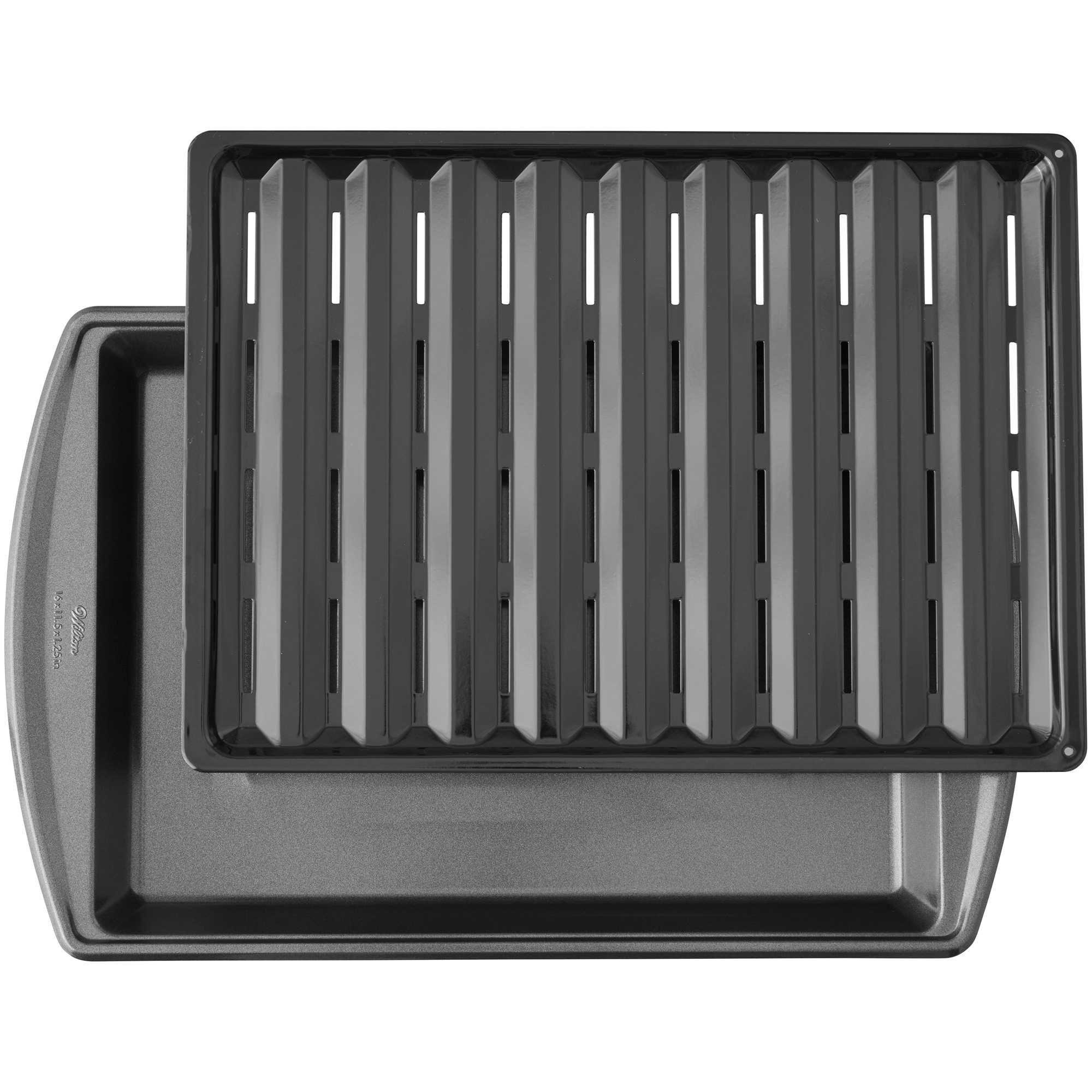 17 Inch Nonstick Broiler Pan Gunmetal