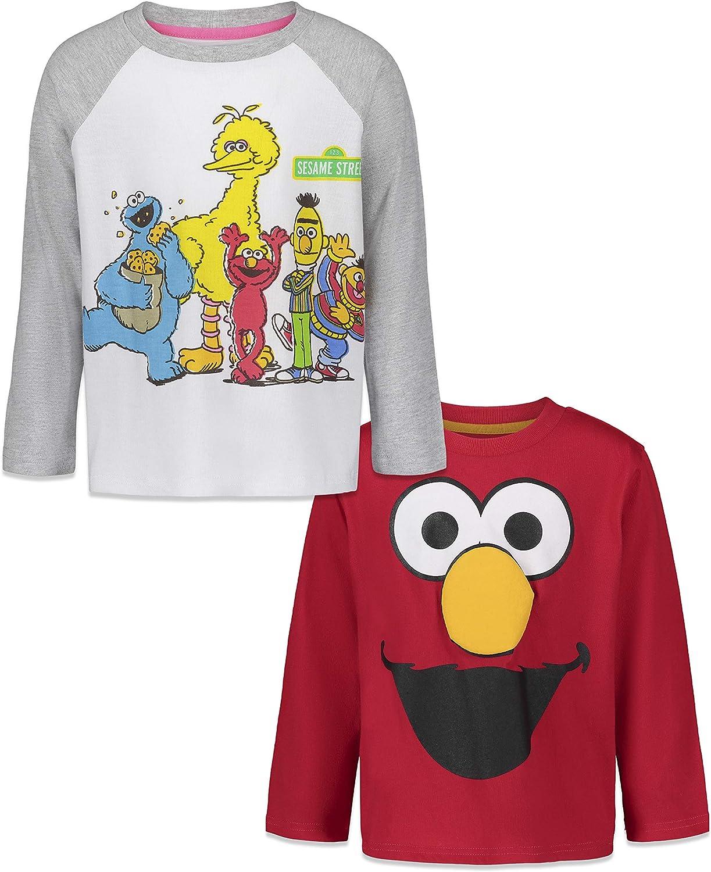 Sesame Street Elmo Fashion 2 Pack Long Cheap Sleeve T-Shirts