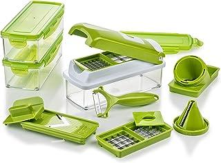 Genius Nicer Dicer Smart Julietti | 16 pièces | Coupe-légumes | Trancheuse spirale | Trancheuse julienne | Trancheuse / Tr...