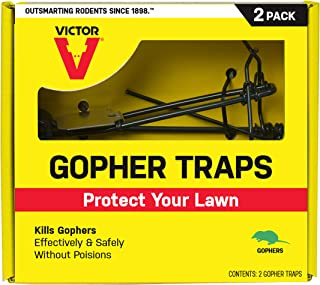 Victor M9013 Gopher 2 Traps, Black