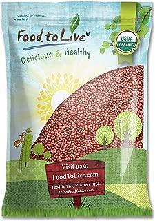 Organic Adzuki Sprouting Beans, 5 Pounds - Non-GMO, Kosher, Dried, Bulk