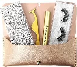 Magnetic Eyeliner and Lashes Kit, Magnetic Eyelashes Set for Full Eye Lash Extension 5 Magnets with Tweezers
