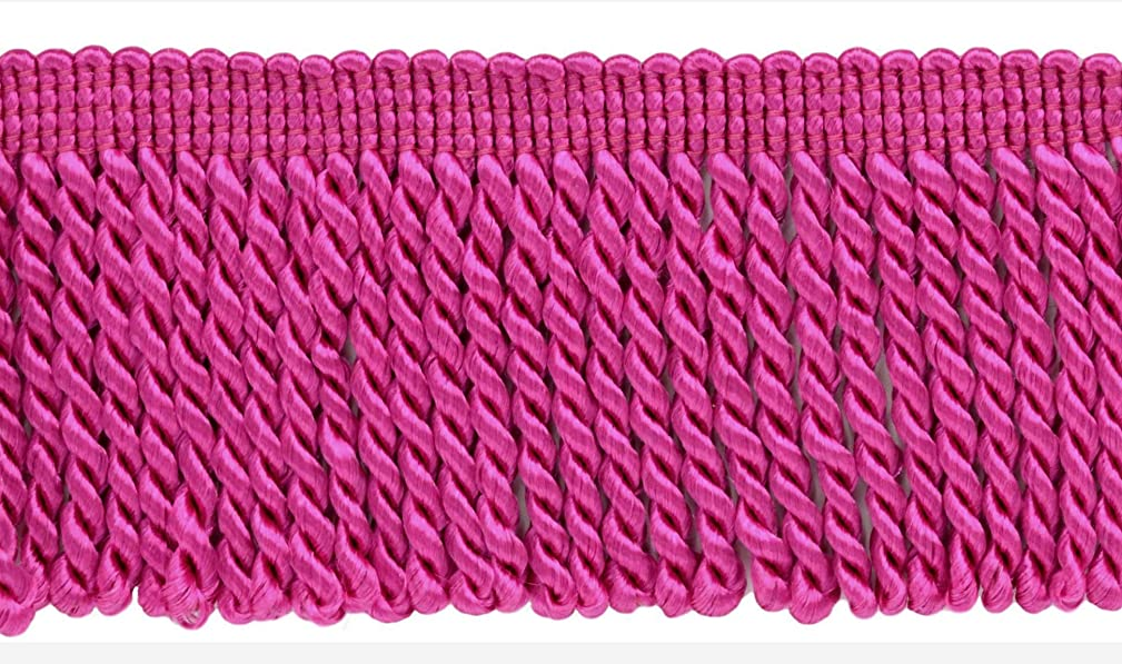 DecoPro 10 Yard Value Pack of 2.5 Inch Hot Pink Bullion Fringe Trim|Style# EF25|Color: 156 (30 Ft / 9.1 Meters) vcudgxy419092
