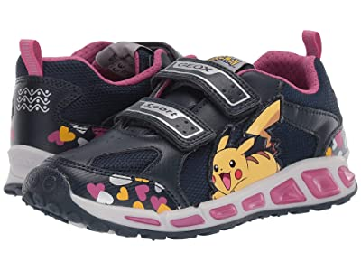 Geox Kids Shuttle 16 Pokemon (Little Kid/Big Kid) (Navy/Pink) Girl